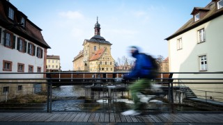 Radfahrer in Bamberg