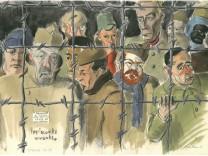 """Ausstellung """"`""""Sowjetische Gefangene im Zweiten Weltkrieg"""";  im Kulturzentrum 2411 in der Blodigstraße 4"""