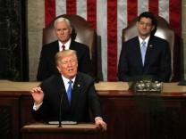 US-Präsident Donald Trump bei seiner Rede zur Lage der Nation