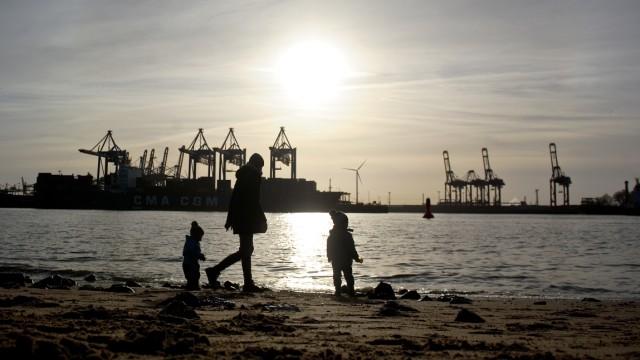 Sonnenschein in Hamburg