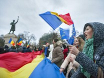 Protest after Presidential elections in Moldova