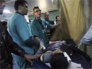 Dr. Mads Gilbert im Schifa-Krankenhaus in Gaza-Stadt; AP