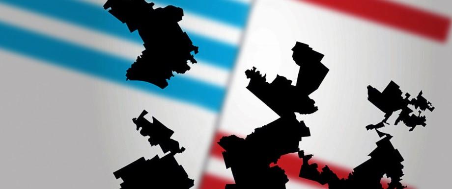 In den USA sind viele Wahlkreise aus machttaktischen Erwägungen zugeschnitten.
