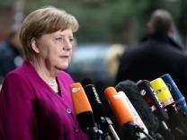 Kanzlerin Merkel zeigt sich bei den Groko-Verhandlungen zwischen CDU/CSU und SPD zuversichtlich.