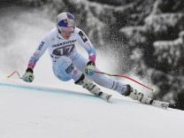Ski Welt Cup in Garmisch-Partenkirchen - Training