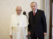 Papst empfängt türkischen Präsidenten in Privataudienz