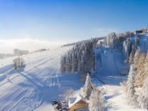 Winter mit Neuschnee in Oberwiesenthal
