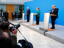 Coalition talks of CDU/CSU and SPD in Berlin