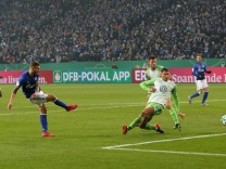 07 02 2018 Fussball GER DFB Pokal Saison 2017 2018 Viertelfinale FC Schalke 04 VfL Wolfsburg