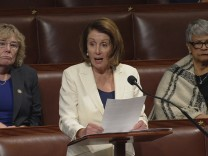 Video grab shows U.S. House Minority Leader Pelosi speaking on the floor of the House of Representatives on Capitol Hill in Washington