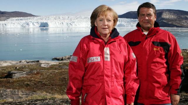 Merkel und Gabriel in Grönland