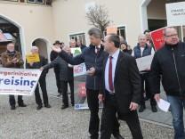 Hubert Aiwanger bei Landesversammlung der Freien Wähler in Kirchdorf, 2017