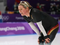 Claudia Pechstein bei den Olympischen Spielen 2018 in Pyeongchang.