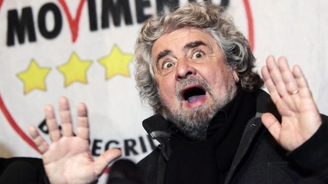 Italy, Rome: 5-Star Movement of Beppe Grillo threats to occupy the Lower House (chamber of deputies) in protest at the failure to set up the new parliamentary commissions