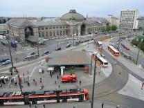 Vogelperspektive Bahnhof