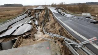 Zweite Fahrbahn der Ostseeautobahn abgesackt