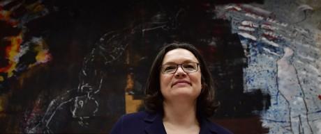 SPD-Politikerin Andrea Nahles 2018 in Berlin.