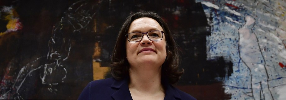 SPD-Politikerin Andrea Nahles 2018 in Berlin.