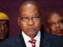 Südafrikas Staatspräsident Jacob Zuma 2016 auf einer Konferenz in Simbabwe.