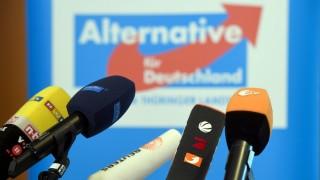 AfD-Pressekonferenz im Thüringer Landtag.