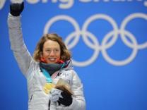 Biathlon: Laura Dahlmeier gewinnt Gold bei den Olympischen Winterspielen 2018 in Pyeongchang.