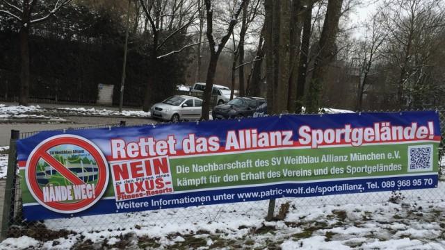 SV Weißblau-Allianz, Kampagne für den Erhalt des Vereins der Sportstätte an der Osterwaldstraße 144, Aufnahme vom 10./11.02.2018