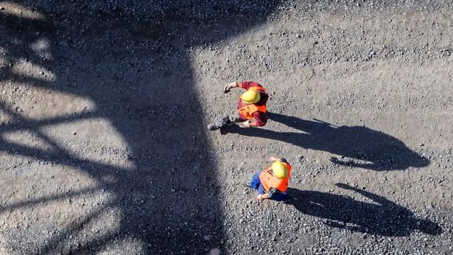 Arbeiter auf Baustelle