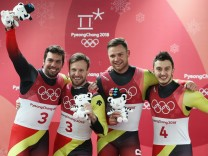 Rodeln: Die Doppelsitzer Wendl/Arlt und Eggert/Benecken holen Gold und Bronze für Deutschland bei den Olympischen Winterspielen 2018 in Pyeongchang.