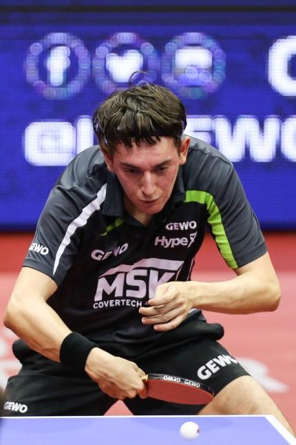 Bence Majoros HUN Tischtennis German Open 1 Hauptrunde Herren Einzel Dimitrij Ovtcharov vs Ben