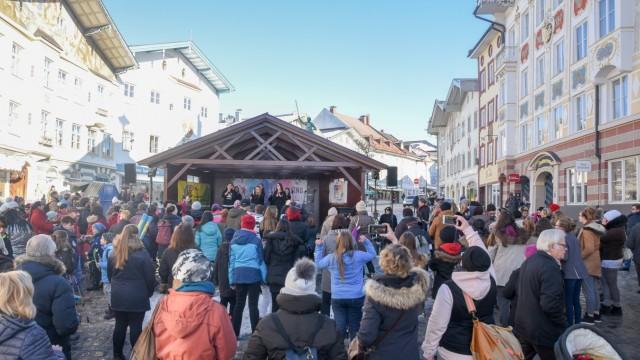Bad Tölz Solidaraktion in der Tölzer Marktstraße