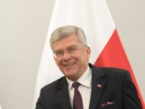 President of the Senate of France Gerard Larcher in Warsaw President of the Senate of France Gerard