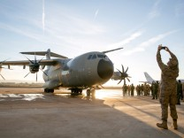 Airbus delivers the first A400M military transport plane to the S