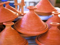 Tagine pots Tangier Morocco North Africa Africa PUBLICATIONxINxGERxSUIxAUTxONLY Copyright Neilx