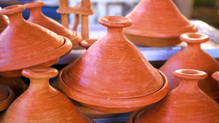 Tagine pots Tangier Morocco North Africa Africa PUBLICATIONxINxGERxSUIxAUTxONLY Copyright Neilx
