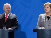 Türkischer Ministerpräsident Yildirim bei Kanzlerin Merkel