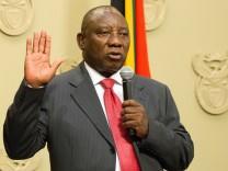 Cyril Ramaphosa Südafrika Präsident ANC