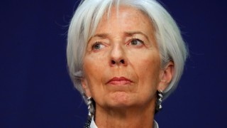 Christine Lagarde, Managing Director of the International Monetary Fund (IMF), attends a conference on 'Transforming FranceâÄÖs Economy and Completing the Integration of the Eurozone' in Paris
