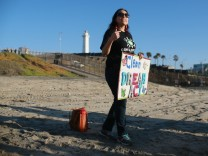 Activists and Immigrants Rally On U.S.-Mexico Border in San Diego Demanding Passage of Dream Act