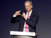 TUM Speakers Series mit Eric Schmidt, Ex-Google-Chef, Partnerschaft zwischen Google und TUM, Audimax