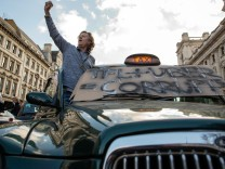 London Black Cab Drivers Protest Against Uber
