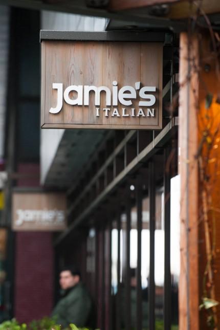 15 01 2018 London United Kingdom Jamie s Italian branches at risk Jamie Oliver restaurant at L; WIR