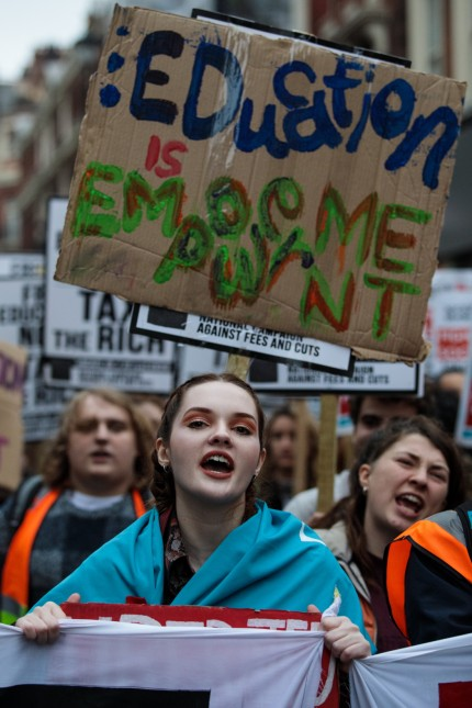 Students March To Demand An End Over Tuition Fees