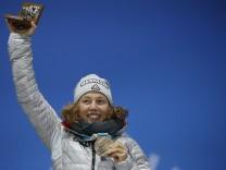 Laura Dahlmeier gewinnt Bronze im Biathlon-Einzel bei den Olympischen Spielen 2018 in Pyongchang.