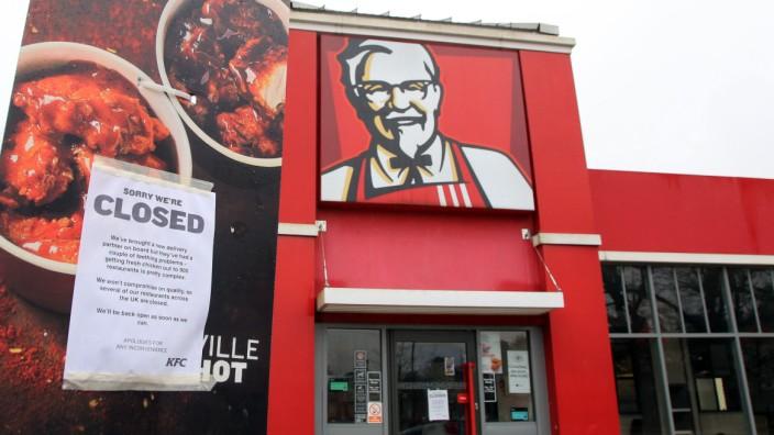KFC-Filialen wegen Lieferproblemen geschlossen