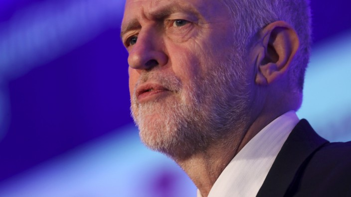 Britain's opposition Labour Party leader Jeremy Corbyn speaks to the EEF Manufacturer's Organisation, in London