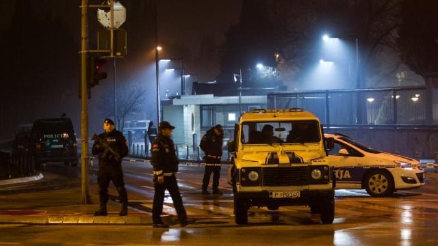 Auf die US-Botschaft in Montenegro wurde ein Anschlag verübt.