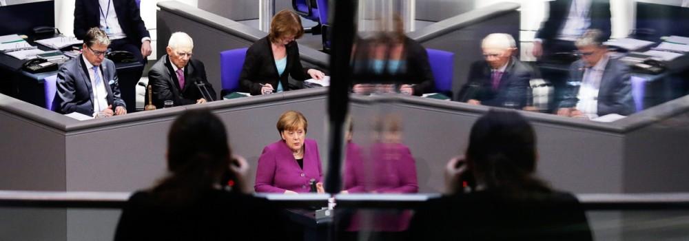 Bundestagswahl Regierungserklärung von Angela Merkel