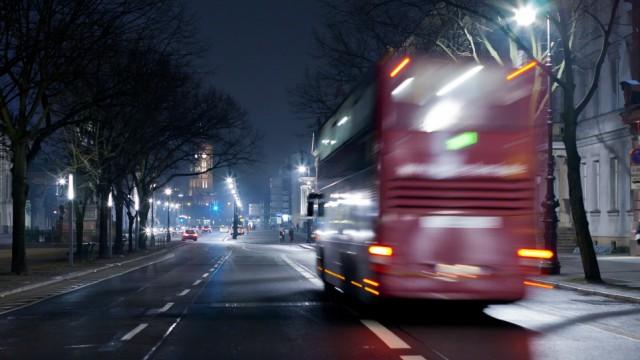Double decker bus mass transit in Berlin