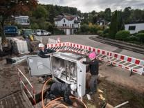 Internet Telekom Baustelle Breitband