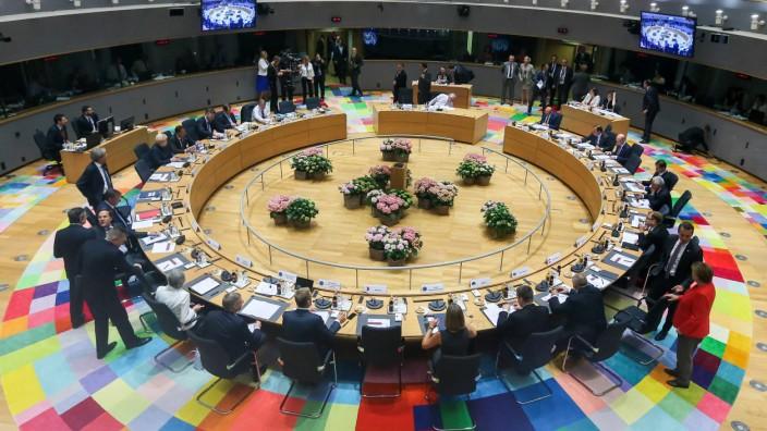 Treffen des Europarates beim EU-Gipfel  in Brüssel im Juni 2017